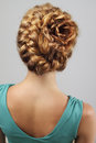 Woman with beautiful hairstyle Stock Image