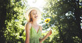 Woman Beautiful Nature Outdoors Fun Relaxation Concept Royalty Free Stock Photo
