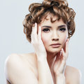 Woman beauty portrait style close up fade isolated Royalty Free Stock Photo