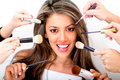 Woman at the beauty salon Royalty Free Stock Photo
