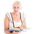 Woman with bemused expression Stock Photo