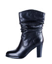 Woman boot on a white background Royalty Free Stock Image