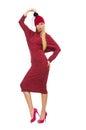The Woman In Bordo Dress