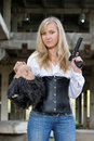 Woman bounty hunter Royalty Free Stock Photos