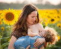 Woman breastfeeding baby Royalty Free Stock Photo