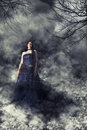 Woman Bride With Wedding Dress...