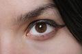 Woman Brown Eye Royalty Free Stock Photo