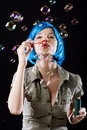 Woman with bubbles Stock Photos