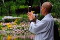 image photo : Woman Buddhist Monk