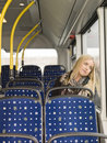 Woman on the bus Royalty Free Stock Images