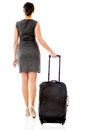 Woman on a business travel Royalty Free Stock Photo