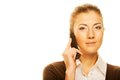 Woman calling by phone beautiful Royalty Free Stock Photos