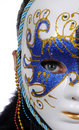 Woman with carnival mask Stock Image