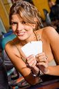 Woman at a casino Royalty Free Stock Photo