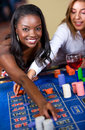 Woman in a casino Royalty Free Stock Photo