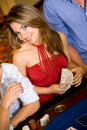 Woman in a casino Royalty Free Stock Photos