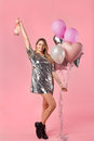 Woman celebrating birthday Royalty Free Stock Photo
