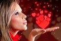 Woman celebrating Valentines day Stock Photo