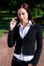 Woman on cellphone Royalty Free Stock Images