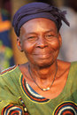 Woman at an ceremony in benin beninese attending egungun cove africa Royalty Free Stock Images