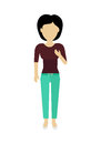 Woman Character Template Vector Illustration. Royalty Free Stock Photo