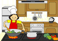 Woman Chef Cooking Royalty Free Stock Photo