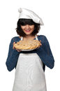 Woman Chef with Pie Royalty Free Stock Photo