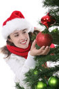 Woman at Christmas Royalty Free Stock Image