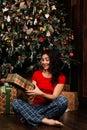 Woman With Christmas Present B...