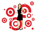 Woman in Circles Stock Photo