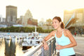 Woman city runner workout Royalty Free Stock Photography