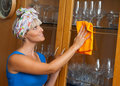 Woman cleaning Royalty Free Stock Photo