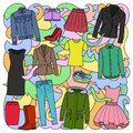 Woman Clothes Colorful Pattern