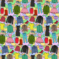 Woman Clothes Colorful Seamless Pattern