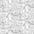 Woman Clothes Sale Seamless Pattern