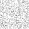 Woman Clothes Seamless Pattern