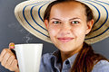 Woman with coffee cup Royalty Free Stock Photo
