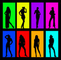Woman color  background Stock Image