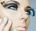 Woman with color eyelashes Royalty Free Stock Photo