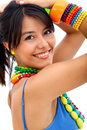 Woman with colorful accessories Stock Photo