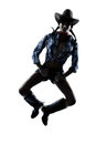 Woman cow girl dancer happy dancing country music Royalty Free Stock Photo