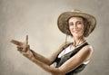 Woman In Cowboy Hat, Making Ge...