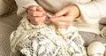 Woman Crochet Tablecloth