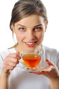 Woman With Cup of Tea Royalty Free Stock Photo