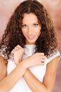 Woman with curls hair Stock Image