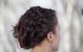 Woman with curly hair Royalty Free Stock Photos
