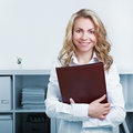 Woman with CV and resume Stock Photos
