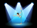 A woman dancing under the spotlights illustration of Stock Image