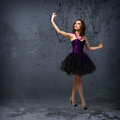 Woman dancing young for her abstract background Royalty Free Stock Photography