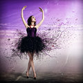 Woman dancing young for her abstract background Royalty Free Stock Image